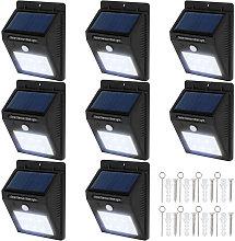 Tectake - 8 focos solares LED con sensor de