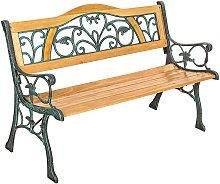 Tectake - Banco para jardín de madera Kathi -