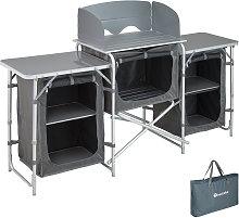 Tectake - Cocina de camping 172x52x104cm - cocina