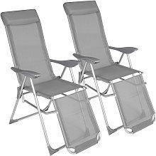 Tectake - Conjunto de 2 sillas plegables Jana -