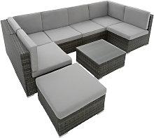 Tectake - Conjunto de muebles de ratán Venecia -