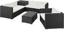 Tectake - Conjunto de ratán Pisa - mueble de