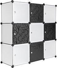 Tectake - Estantería modular 9 piezas -