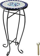 Tectake - Mesa auxiliar de balcón para macetas