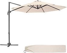 Tectake - Parasol Daria - parasol excéntrico de