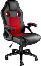 Tectake - Silla de oficina Tyson - negro/rojo