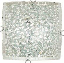 Tegaluxe - Plafón Cuadrado Mosaico Espejo 30 Cm