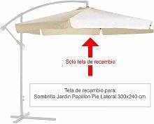 Tela Recambio Para Sombrilla Pie Lateral Ø 3 x