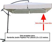 Tela Recambio Sombrilla Pie Lateral Cuadradada