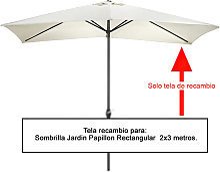 Tela Recambio Sombrilla Rectangular 2x3 metros