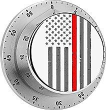Temporizador mecánico de la bandera americana de