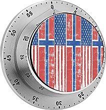 Temporizador mecánico de la bandera noruega