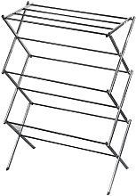 Tendedero de Ropa Vertical Plegable de Acero Inox