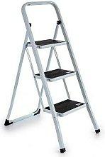 Tendencia Unica Escalera Metal Blanca 3 Escalones