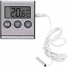 Termómetro Digital LCD para Nevera, Soporte de