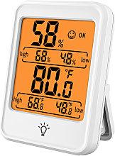 Termometro higrometro digital blanco - Kkmoon
