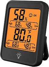 Termometro higrometro digital Negro - Kkmoon