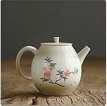 Tetera de cerámica pintada a mano tetera