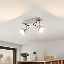 Theda foco LED, blanco, 2 luces - Lindby