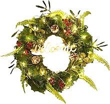 TIAVNTD Guirnalda de Navidad de 50 cm para puerta