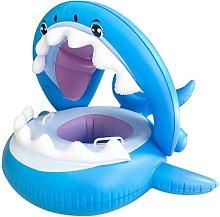 Tiburón con el anillo de asiento con capucha