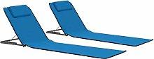 Tidyard Conjunto de Sillas de Playa Plegable 2