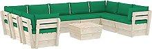 Tidyard Muebles de Jardín de Palets 10 Piezas y