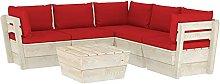 Tidyard Muebles de Jardín de Palets 6 Piezas y