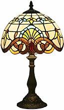 Tiffany Lámpara de Mesa Vendimia Diseño Sala