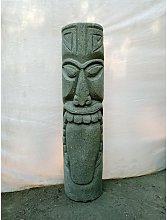 Tiki de Oceanía estatua de piedra volcánica para