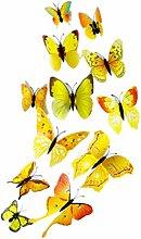 Timlatte Forma 12PCS / Set de PVC de la Mariposa