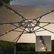 Tira de luces LED solares para sombrilla 130 cm -