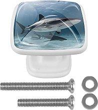 Tirador de cajón con tornillos Tiburon oceano