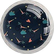 Tirador para Muebles Estrellas Nube Unicornio Pomo