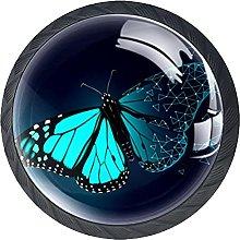 Tiradores Armario Mariposa Azul Cielo Tirador de