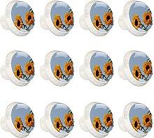 Tiradores de cajón de patrón de girasol para