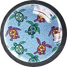 Tiradores De Muebles Tortuga Multicolor Tirador De