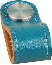 Tiradores De Piel 4 Piezas Azul Naranja Manija De