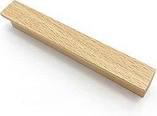 Tiradores de puerta de armario de madera maciza,