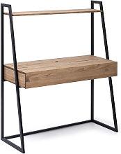 Tocador 121x48x144cm 1 cajón negro en madera de