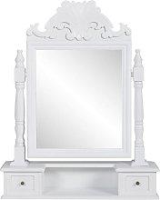 Tocador con espejo abatible rectangular de MDF -