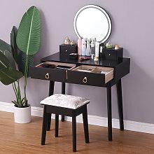 Tocador con Espejo,Mesa de Maquillaje,Patas de