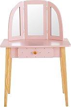 Tocador infantil con 1 cajón rosa claro