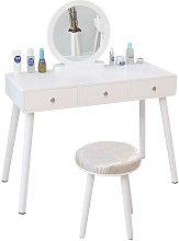 Tocador Mesa de Maquillaje Belleza 3 Cajones