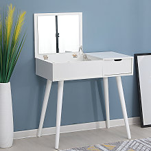Tocador Mesa de maquillaje con espejo plegable, 1