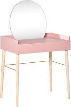 Tocador Mesa de Maquillaje con Espejo Redondo