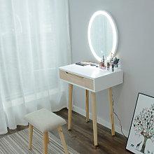 Tocador y espejo Mesa de maquillaje con taburete -