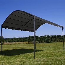 Toldo parasol gris antracita 3x4 m - Hommoo