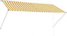 Toldo retráctil 300x150cm amarillo y blanco Vida