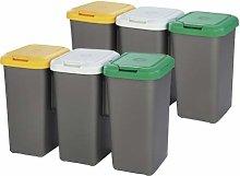 Tontarelli Pack 2 cubos de reciclaje con 6